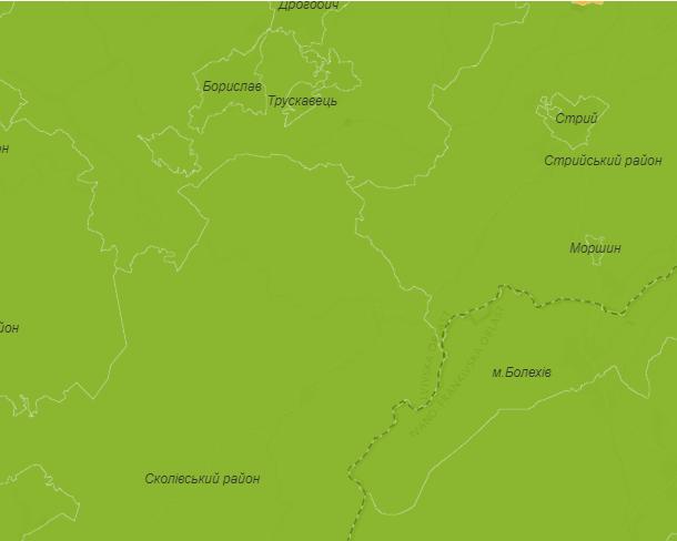 Карта зон короновіруса