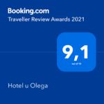 Награда от Booking 2021